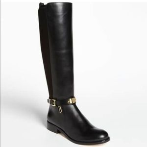 Michael Kors Arley Tall Black Leather boots 7.5